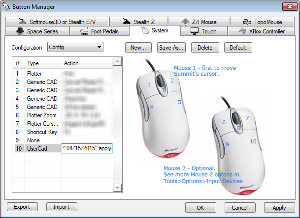 "Paste or set a FieldUpdate string in a ""UserCAD"" button in Summit's Button Manager"